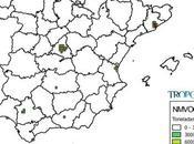 España: Mapa emisiones NMCOV (Inventario EMEP 2013)
