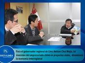Lima provincias:EMPRESARIOS CHINOS PREDISPUESTOS INVERTIR INFRAESTRUCTURA VIAL…