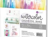 "Watercolor coloring book Prima: ""Believe yourself"""