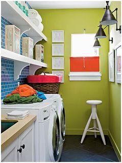 consejos para equipar y decorar el cuarto de lavado