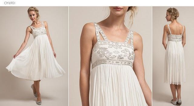 Vestidos de novia hippies cortos