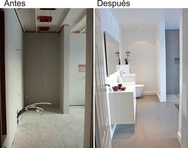 Antes y despu s reforma de un cuarto de ba o paperblog - Reforma piso pequeno antes y despues ...