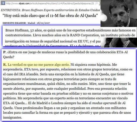 experto antiterrorista 2007 deja en evidencia al mentiroso del PP Javier Arenas