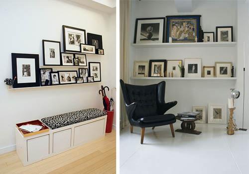 D a de dudas decorar con fotos paperblog - Composicion marcos pared ...