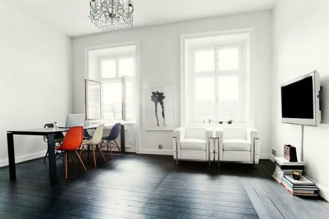Paredes blancas suelo oscuro paperblog for Decoracion paredes blancas