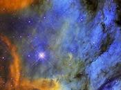 nebulosa Pelícano entre gas, polvo estrellas