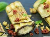 Receta rollitos berenjena queso fresco, tomate seco nueces
