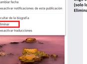 Eliminar compartido Facebook cómo editarlo eliminarlo