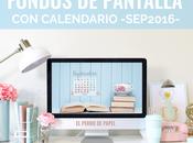 Fondos pantalla calendario para ordenador: septiembre 2016