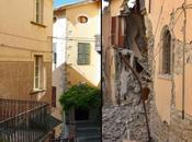 Antes después terremoto Italia. fotografías.
