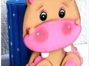 Recicla latas cocina linda alcancía hipopótamo