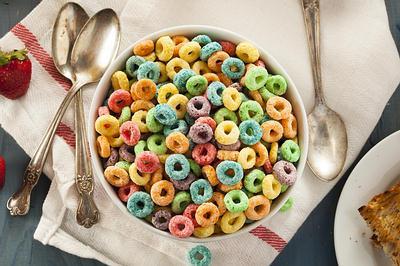 insalubres cereales para el desayuno