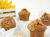 Muffins plátano avena caramelizado miel, desayuno campeones