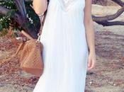 Vestido blanco seda