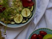 Ensalada cuscus verduras parrilla