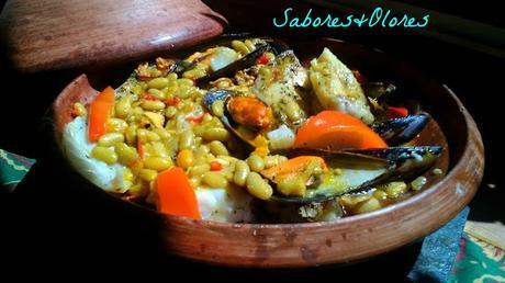 Tajin de raya en salsa con verdinas for Cocinar raya a la gallega