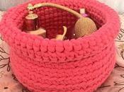 Cesto trapillo rosa
