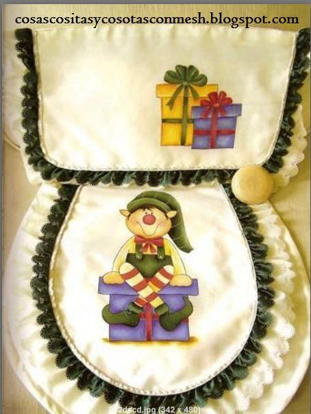 Juegos De Baño Moldes:Moldes para juegos de baño navideños – Paperblog