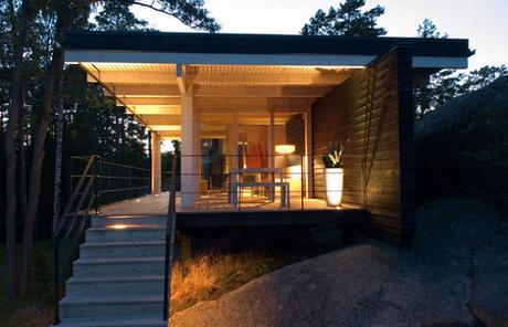Cabana minimalista en finlandia paperblog - Cabanas de madera los pinos ...