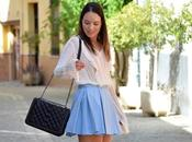 Outfit Baby blue skirt