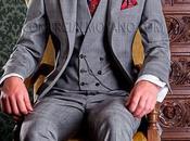 Traje novio gris corte entallado (slim fit) diseño Gales