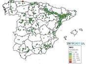 España: Mapa emisiones Amoníaco (Inventario EMEP 2014)