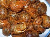 Caracoles tomate jamón serrano