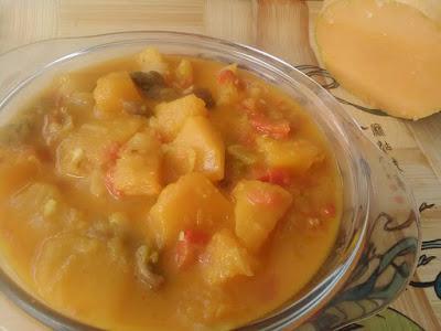 CURRY DE CALABAZA (Una verdura muy sana)