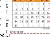 Calendarios octubre, noviembre diciembre 2016