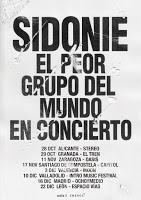 Conciertos Sidonie 2016-2017