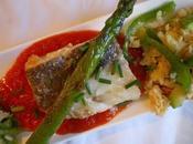 Revuelto bacalao verduras tomate
