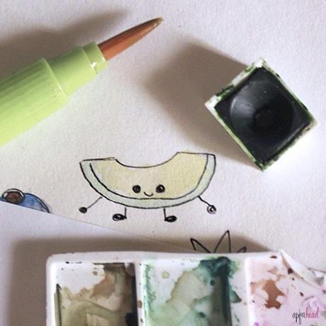 Dibujos veraniegos: Frutas