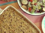 Pastel arroz hongos almendras (sin masa gluten)