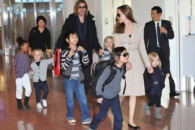 Angelina y Brad van a terapia en familia
