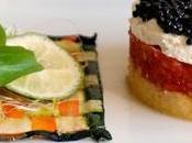 Milhojas tartar tomate caviar