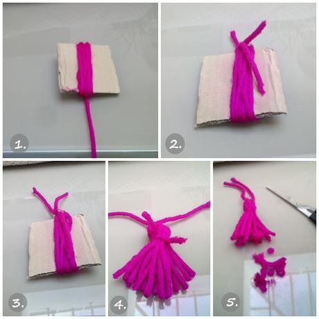 Diy como hacer una manta con borlas de lana paperblog - Como hacer una manta de lana para el sofa ...