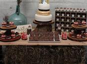 Mesa dulce rústica para boda especial!