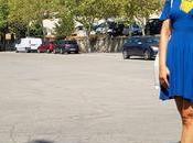 Vestido azul Roberto Navazo