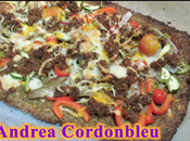 Pizza vegana barbacoa base brócoli. fitness.