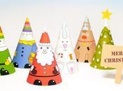 Divertidos conos navideños para imprimir