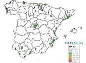 España: Mapa emisiones PM2.5 (Inventario EMEP 2014)