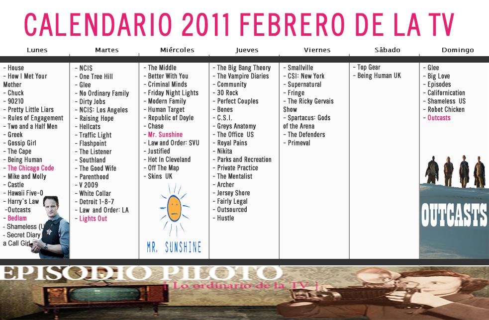 Calendario 2011 Febrero