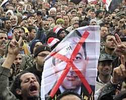 Renunció cúpula dirigente de partido gobernante de Egipto, Mubarack  no renuncia (+ audio)