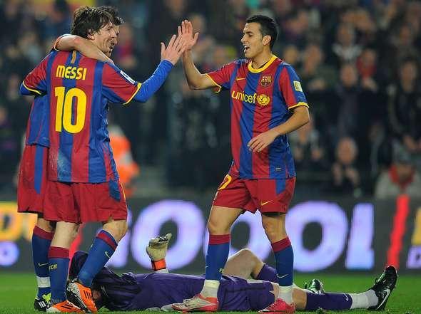 """""""Hat Trick"""" de Messi y victoria récord del Barcelona ante el Atlético"""