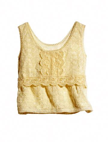 H&M Conscious Collection Organic Cotton Broderie Anglaise Top