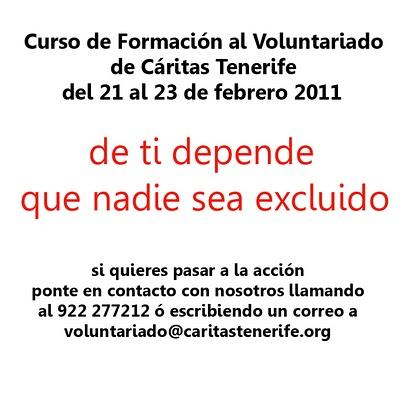 Curso Voluntariado Cáritas Tenerife