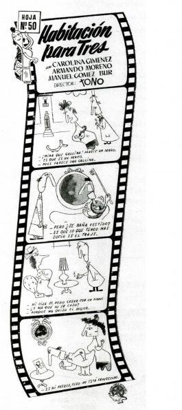 Producciones La Codorniz: Habitación para tres, humorismo español de vanguardia. Elogio a la vida excéntrica, el talento de Tono y los Celuloides rancios