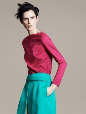 Stella Tennant, imagen de Zara, Spring/Summer 2011. Lookbook