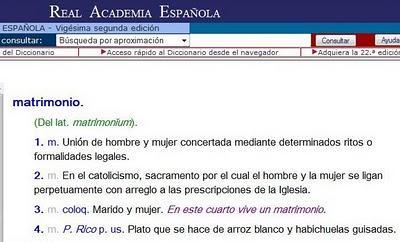 Diccionario de la RAE, esta mañana (me quedo con el plato puertorriqueño)