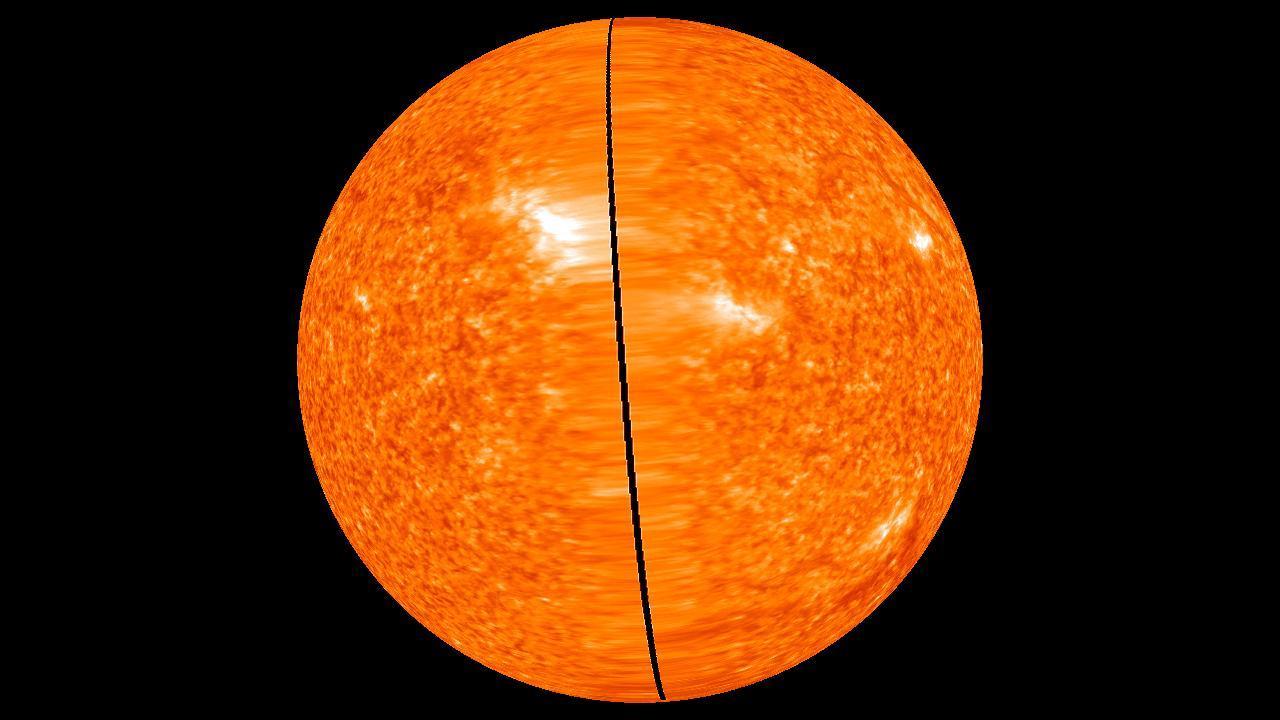Observan a la vez las dos caras del Sol